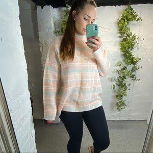 Lou & Grey plaid turtlenecks sweater L